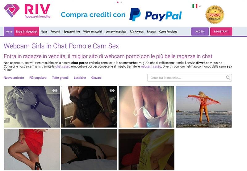 RIV Cam Girl Ragazze in Vendita