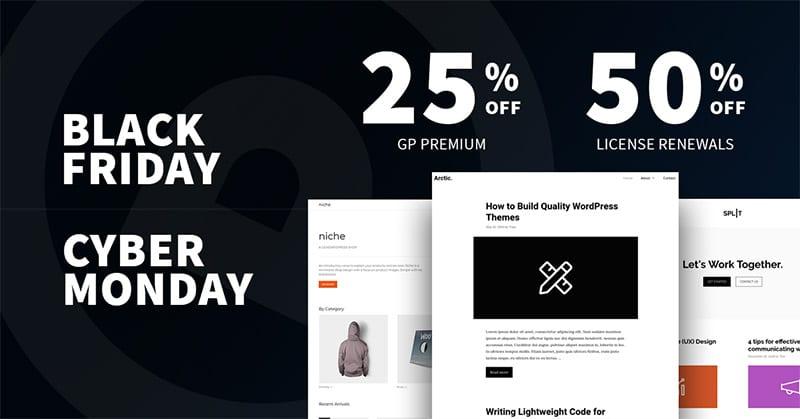 Offerte GeneratePress Black Friday e Cyber Monday