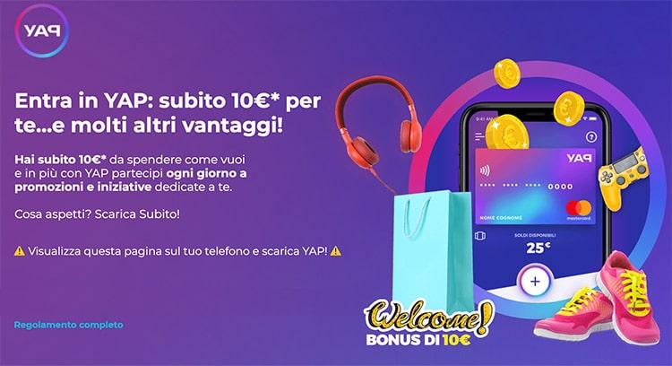 10 € In Regalo con YAP