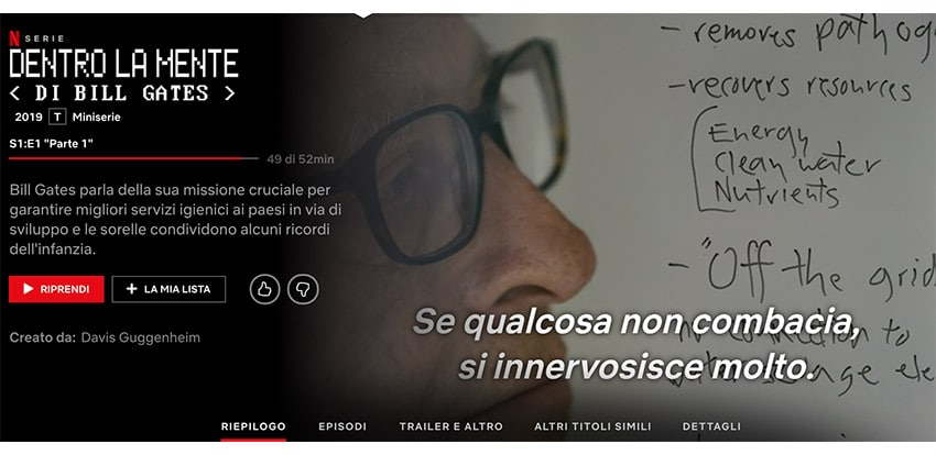 "Documentario Bill Gates Netflix ""Dentro la Mente"""