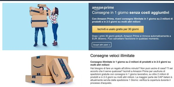 Amazon Prime Costo, Offerte, Recensione: Conviene?