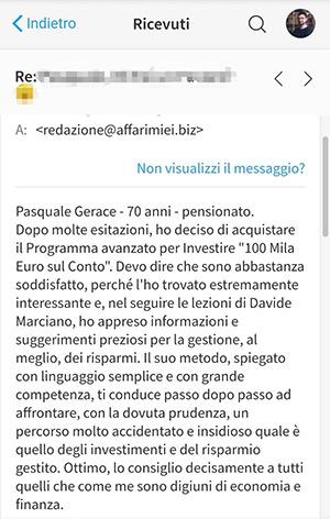 Opinioni Corso Investimenti Davide Marciano