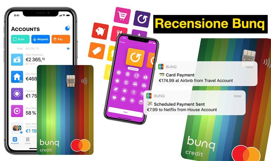 Recensione Bunq Conto, Carta, Banca Mobile