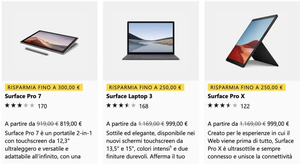 Offerte Microsoft Surface