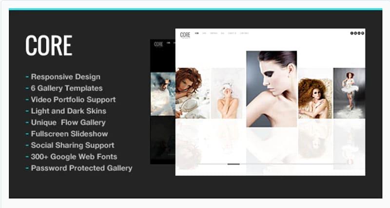 Core Photography Template WordPress Fotografia
