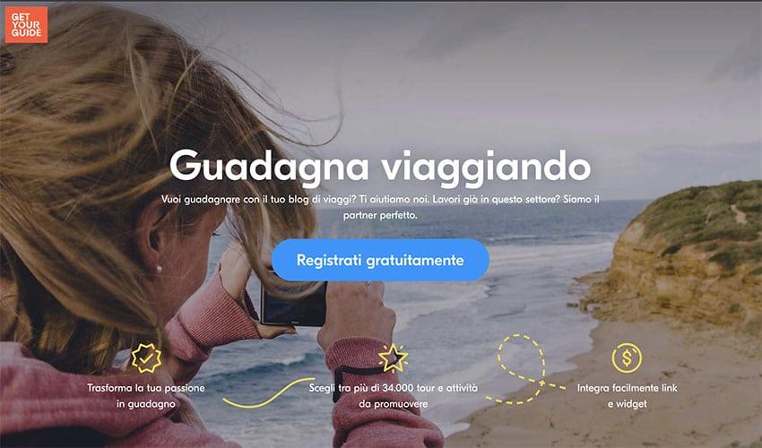 Affiliazione GetYourGuide Italia: Guadagnare con Get Your Guide!