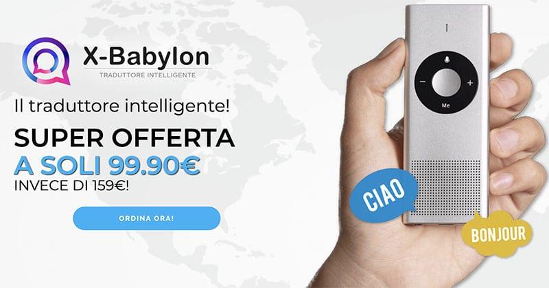 X Babylon Traduttore Portatile Intelligente