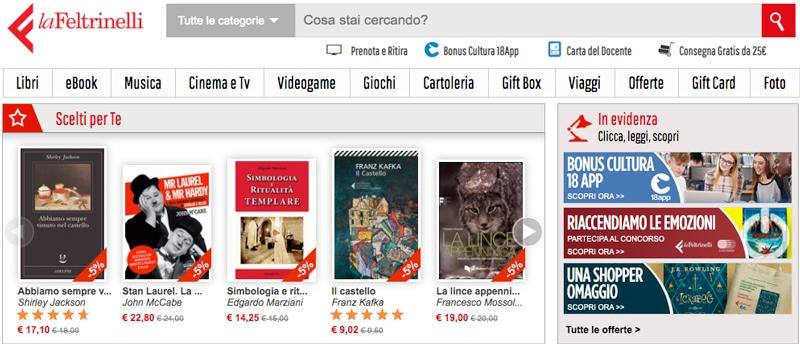 La Feltrinelli.it Sito Internet