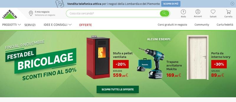 Leroy Merlin Online - Siti e Commerce Migliori
