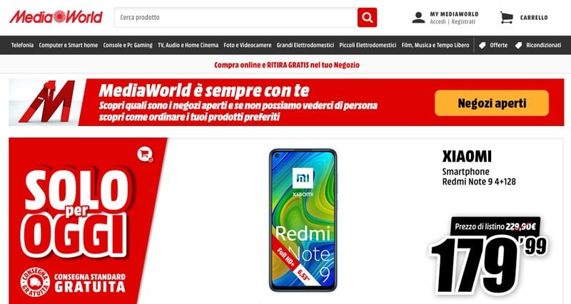 MediaWorld Online - Siti e Commerce Migliori