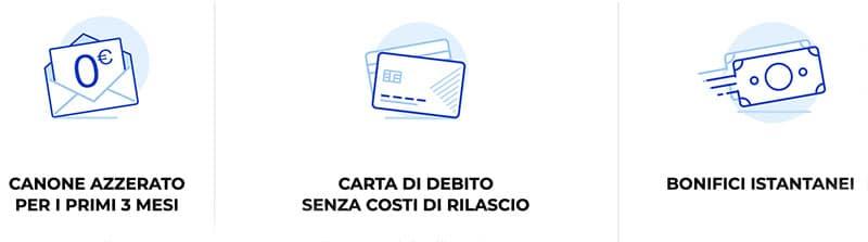 Conto WebSella Costi