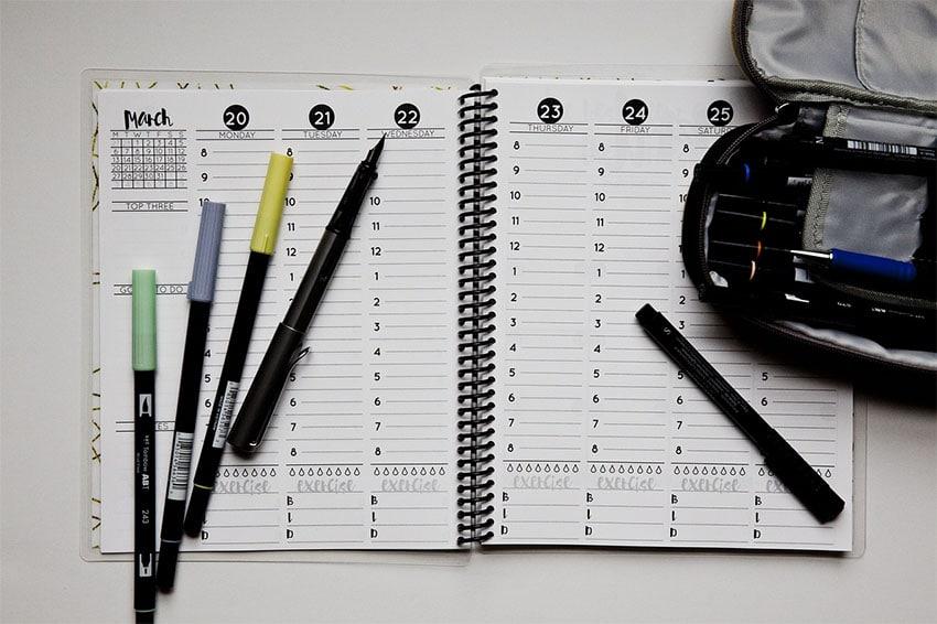Planner Settimanale Per Organizzare il Lavoro