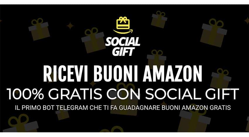Come Guadagnare Buoni Amazon Con Telegram? Social Gift!