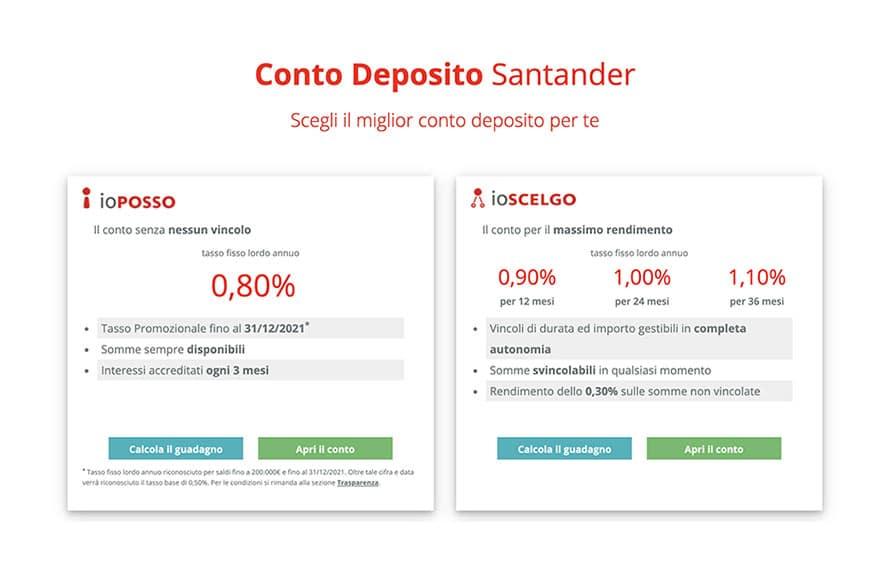 Conto Deposito Santander Recensione ed Opinioni: Conviene?