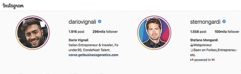 Dario Vignali e Stefano Mongardi - Instagram On Fire