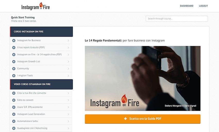 Le Lezioni di Instagram On Fire: Accedi