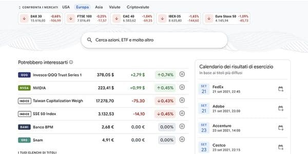 google-finanza