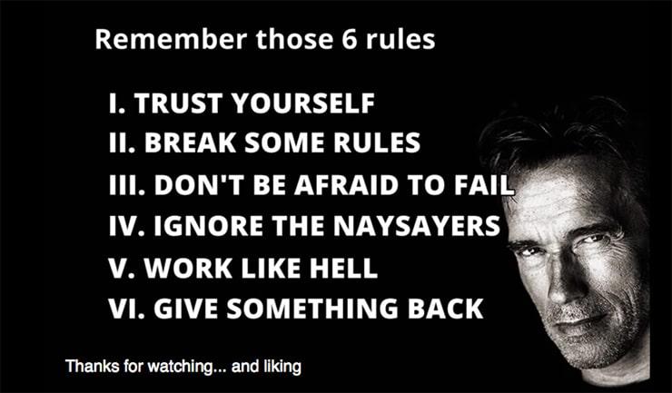 6 Regole del Successo (speech Arnold Schwarzenegger)