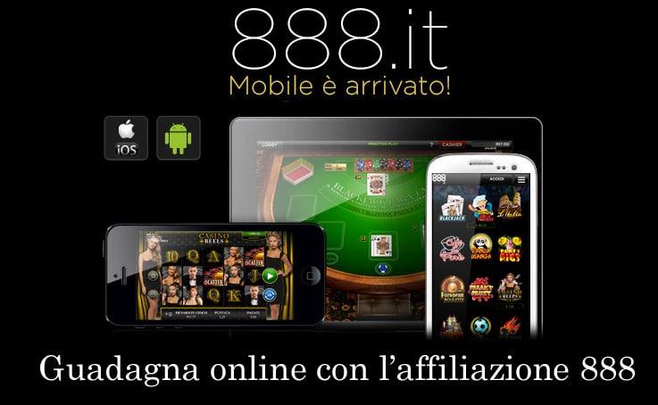 888: Da Oggi il Casinò è anche Mobile - Scopri l'affiliazione