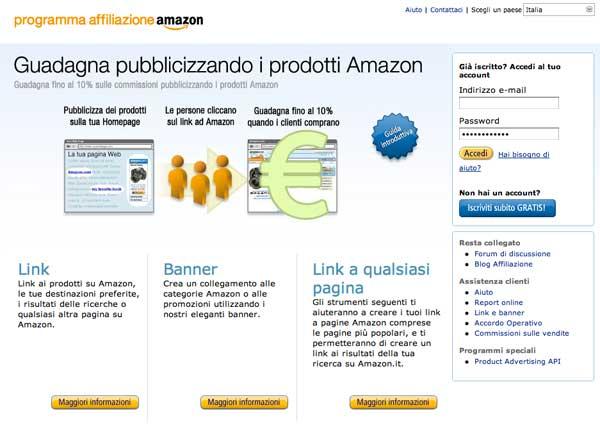 Affiliazione Amazon in Italia Prime Impressioni
