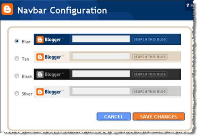 NavBar Blogger