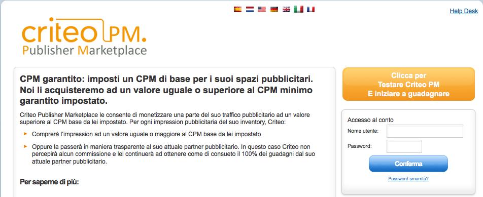 Criteo Publisher Marketplace