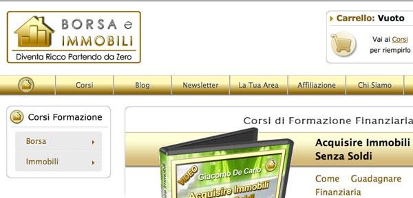 Affiliazione Borsa e Immobili: eBook e Corsi Online