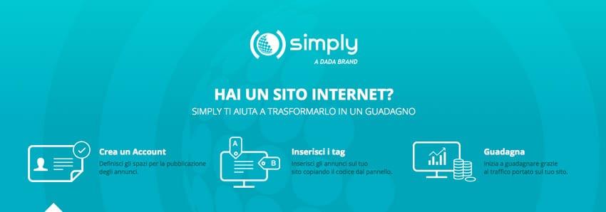 Affiliazione Simply Pay per click / impressions