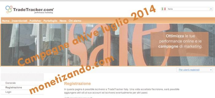 Affiliazione TradeTracker: Campagne in affiliazione luglio 2014