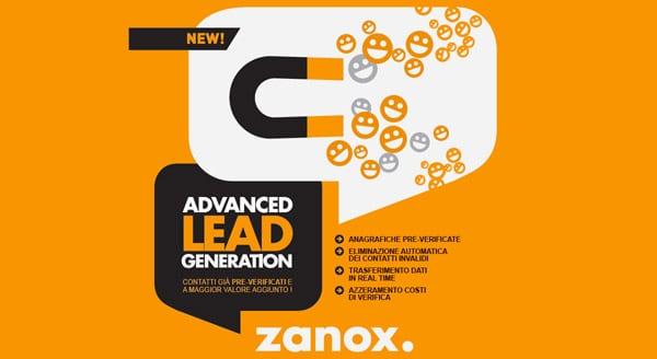 """Affiliazione Zanox: Presentato il Nuovo Servizio """"Advanced Generation Lead"""""""