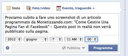 Programmare Articoli Su Facebook Giugno 2012