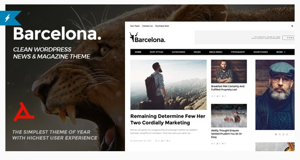 Barcelona. Clean News & Magazine WordPress Theme