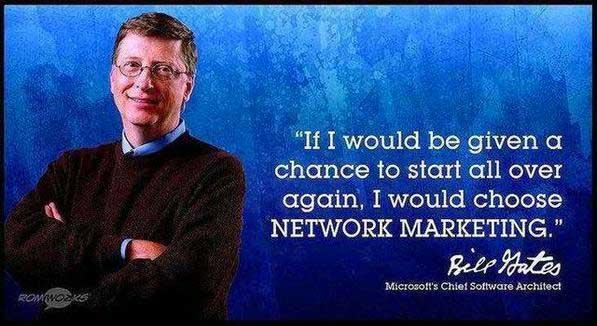 Bill Gates e Network Marketing