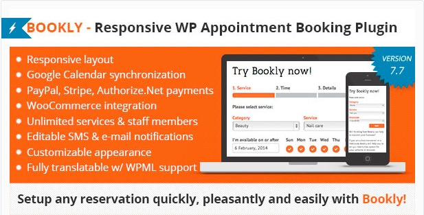 Bookly - Responsive WordPress Appointment Booking and Scheduling Plugin