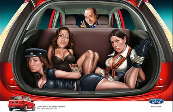 Campagna Pubblicitaria Ford India: Berlusconi e Messaggio di Ford