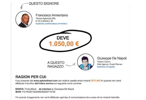 WebAgency e Clienti Insolventi: Creorin, Giuseppe De Napoli e AgitMedia