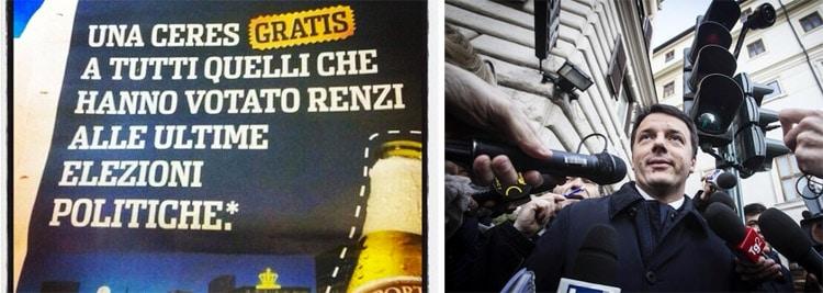 Instant Advertising: Ceres e Matteo Renzi - Febbraio 2014