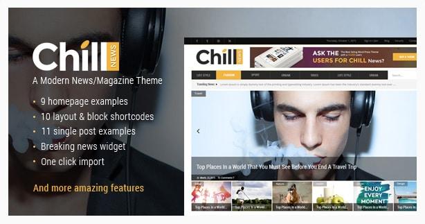 Chill News - A Modern News/Magazine Theme