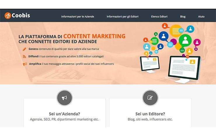coobis il nuovo servizio per vendere contenuti e guadagnare con un blog
