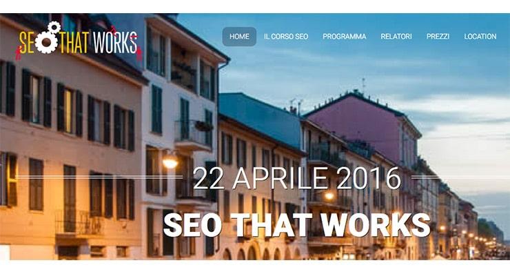 Corso SEO Milano Aprile 2016: SEO That Works