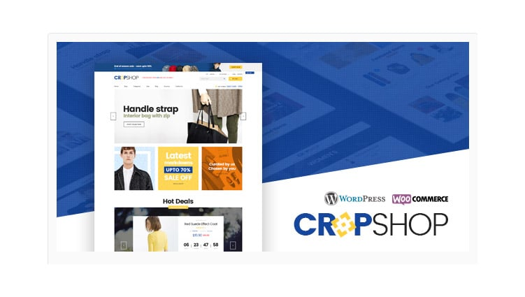 Template WordPress Fashion Store WooCommerce: Cropshop