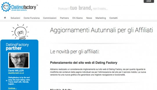 Affiliazione Dating: Newsletter Ottobre Dating Factory