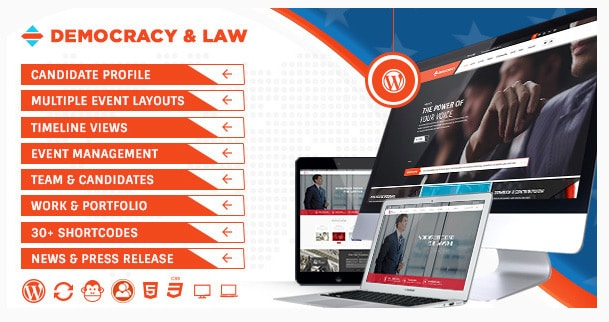 Democracy Political - Lawyer WordPress