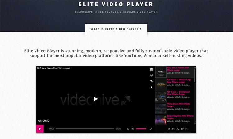 Plugin Wordpress Video Premium Responsive PreRoll: Elite Video Player