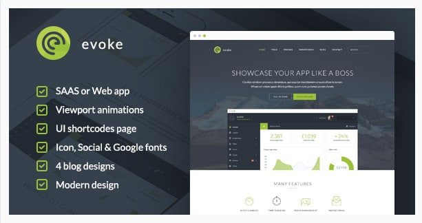 Evoke - WordPress Theme
