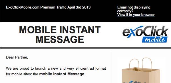 Formati Pubblicitari Online: Il Mobile Instant Message?
