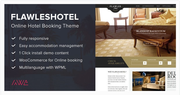 Flawleshotel - Online Hotel Booking Theme
