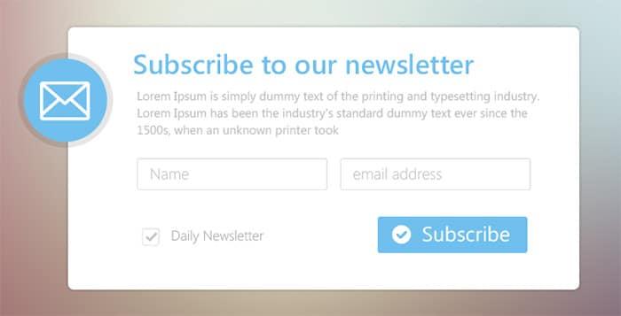 Form iscrizione newsletter