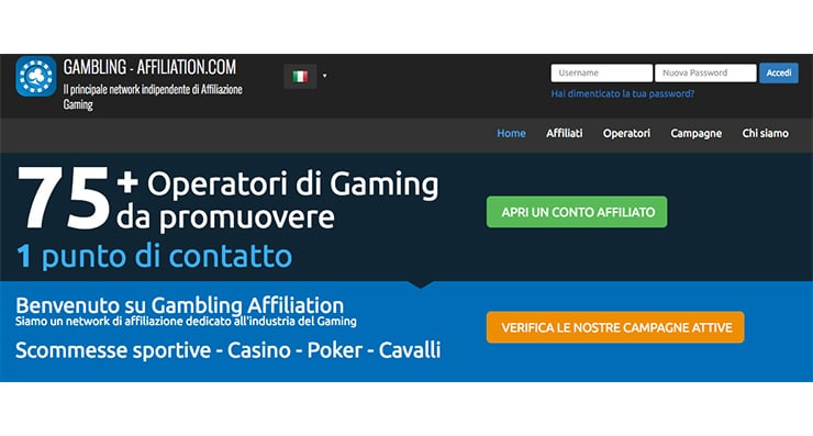 Gambling Affiliation: Network Affiliazione Gambling