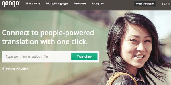 Servizio di Traduzioni Professionali Online? Gengo!